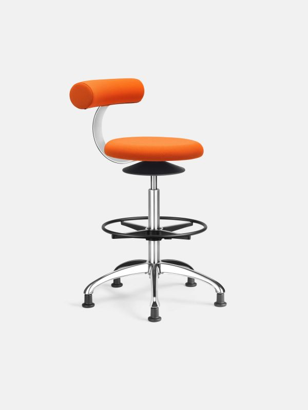 Barhocker AOGO mit hohem Fußkreuz | LÖFFLER Designteam | Orange