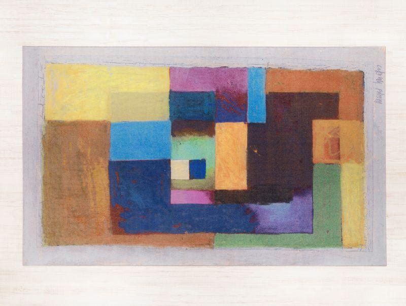 Teppich Blaues Quadrat | Margret Schriefers-Imhof | Größe 1