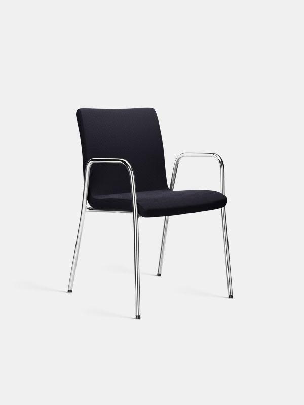 Stuhl LEZGO 0711 Schwarz Chrom LÖFFLER Designteam