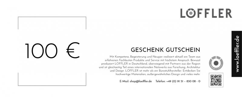 Geschenk Gutschein - 100 €